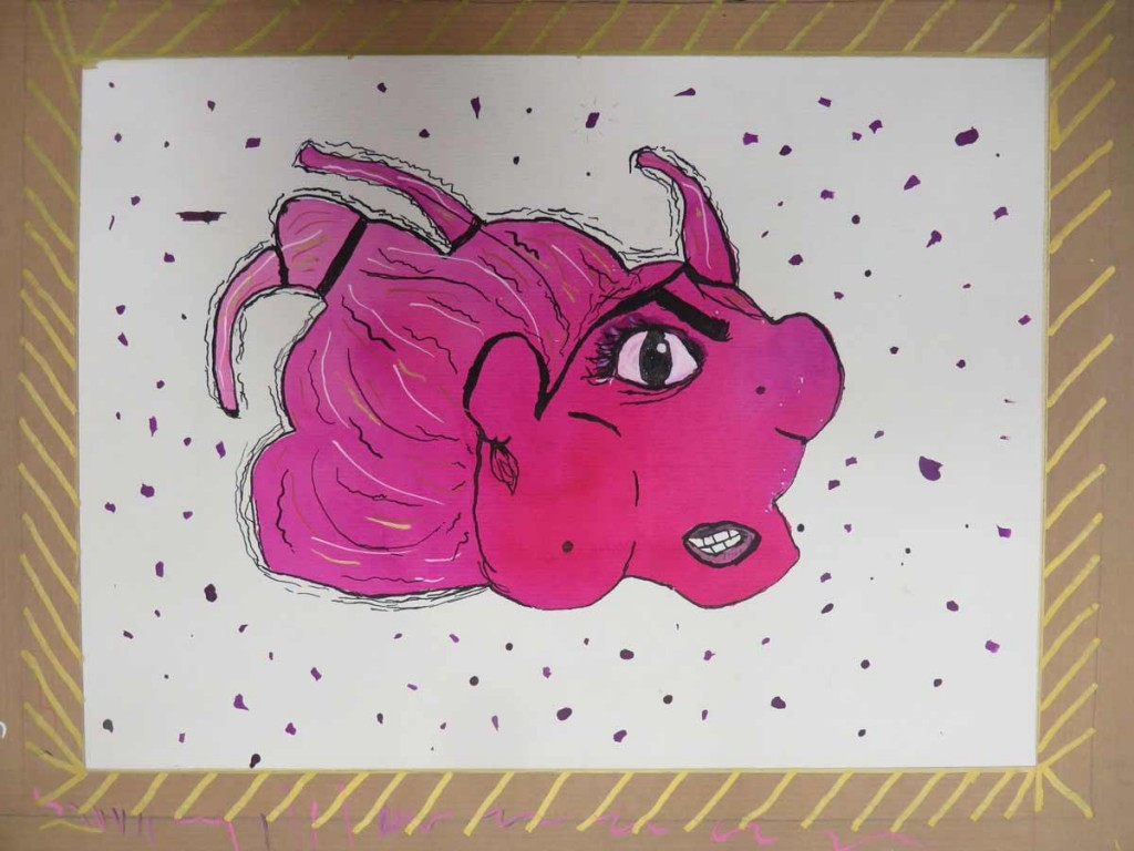 Créature rose