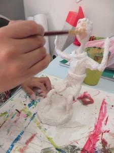 Mise en peinture de la statuette
