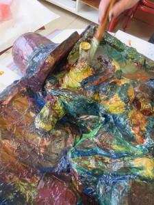 Coloration avec des encres acryliques