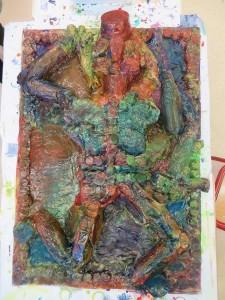 Mise en couleur avec les encres acryliques