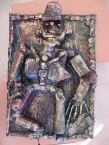 Bas-reliefs en papier mâché