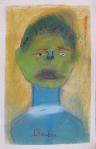 Autoportrait au visage vert