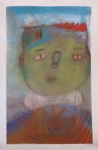Autoportrait au pastel