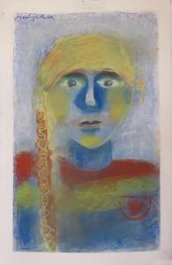 Dessiner son portrait avec des craies de couleur