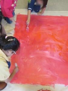 Réaliser un font dans un camailleu de rouges