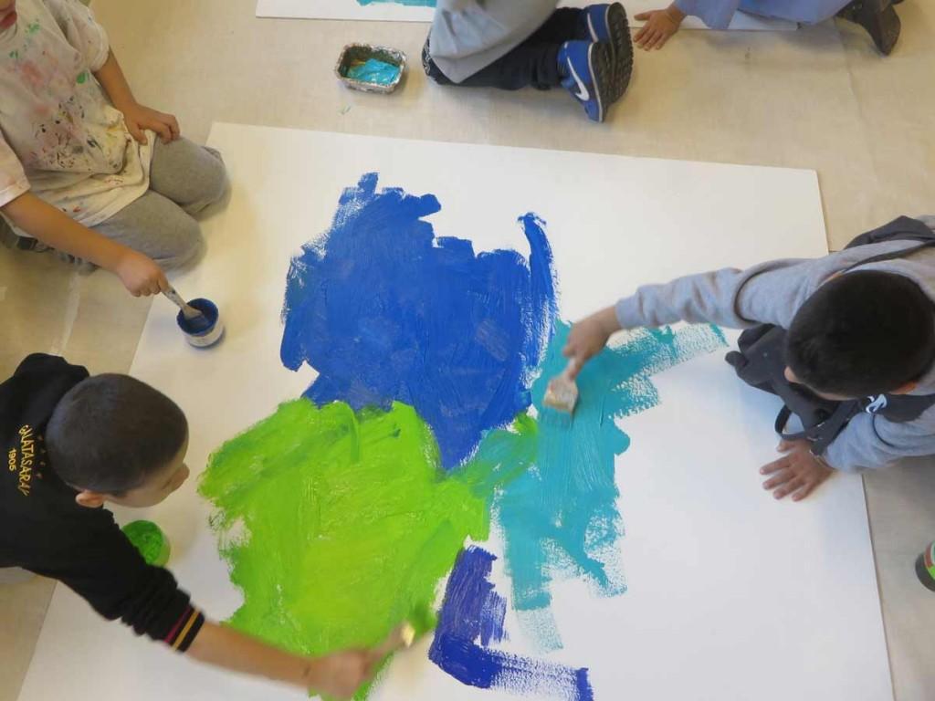 Réalisation des fonds colorés