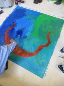 Grandes peintures en couleur