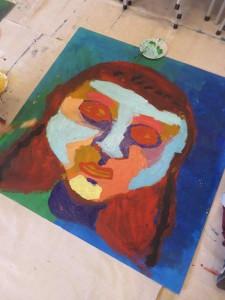 Portrait à la peinture