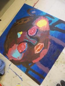 Tableau à la peinture acrylique