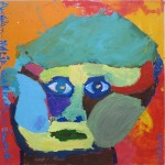 Portrait d'enfant à la peinture acrylique