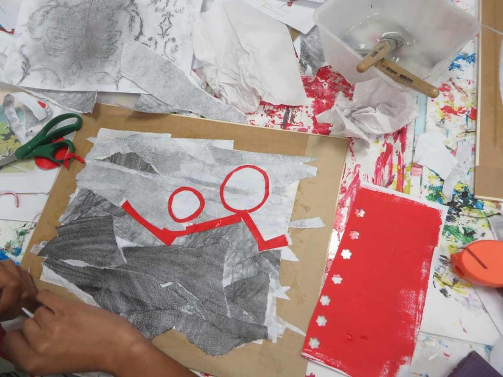 Atelier créatif à l'hôpital Femme Mère Enfant