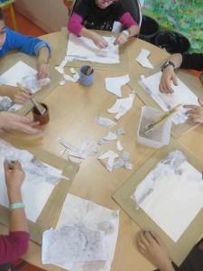 Atelier avec les enfants hospitalisés