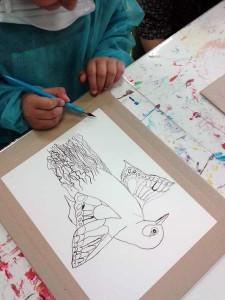 Safa signe son dessin