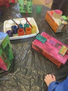 Mise en couleur des volumes en carton