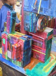 Assemblage des boites décorées