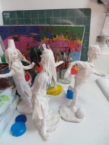 Figurines réalisées par les enfants