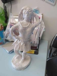Figurine en plâtre
