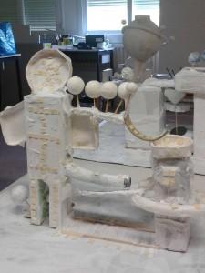 Tour décoré de mosaïque