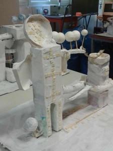 Tour décorée de mosaïque