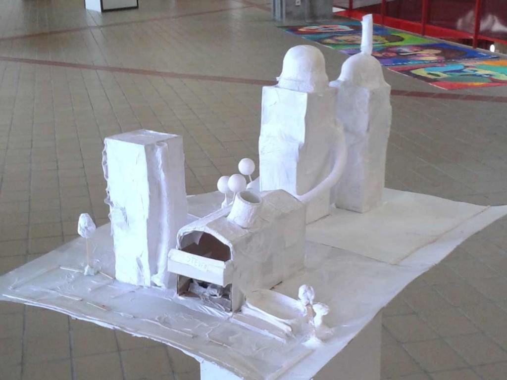 Maquettes en papier blanc