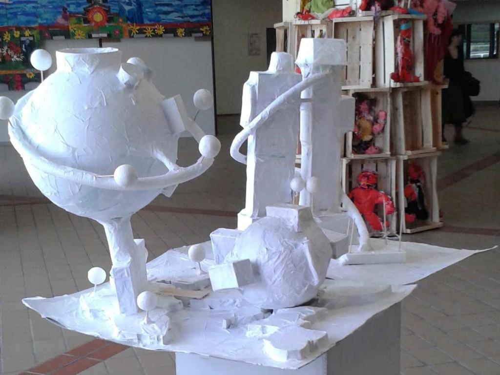 Maquettes des projets de reconstruction des tours