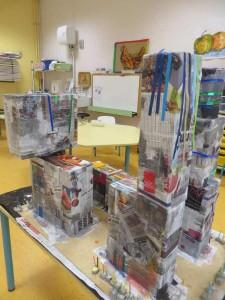 Assemblage de volumes pour bâtir un immeuble