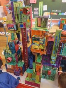 Maquette de ville construite par les enfants