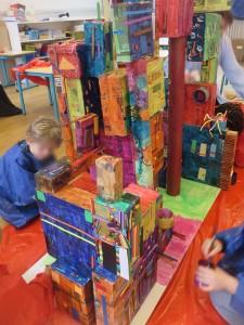 Maquette de ville colorée