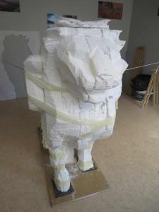 Sculpture en polystyrène