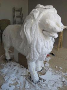 Ebauche de sculpture animalière