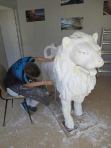 Ponçage de la sculpture