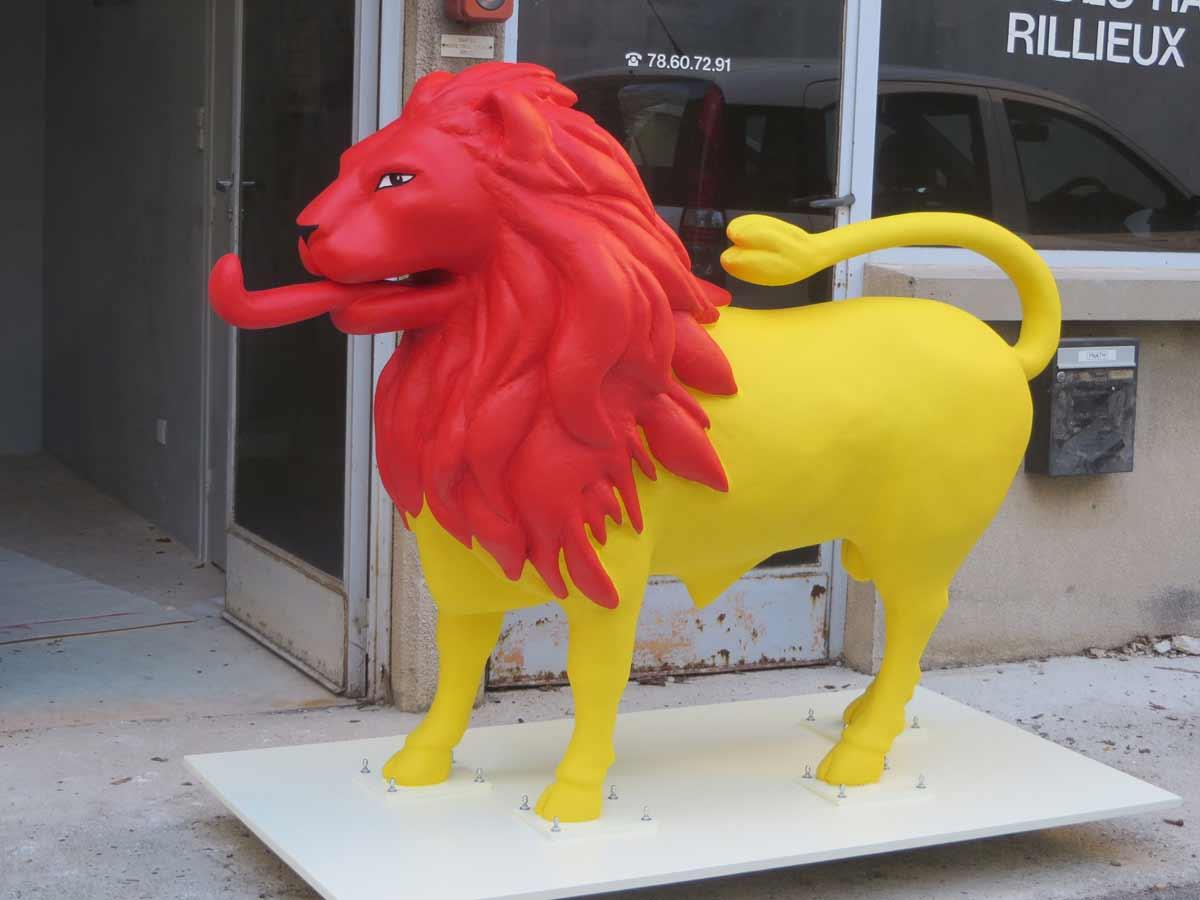 Sculpture prête à être livrée