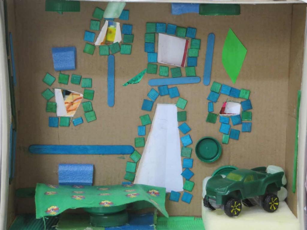 La maison de la petite voiture verte