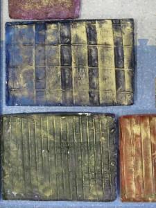 Bas-relief en plâtre