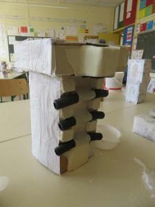 Boites en carton et gaine électrique