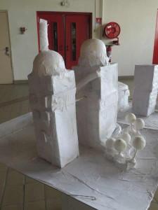 Les maquettes sont exposées à l'Espace Baudelaire