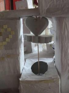 Un coeur fait le lien entre les deux tours