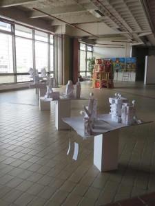 Exposition à l'étage de l'Espace Baudelaire