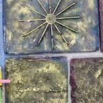 Moulages en plâtre d'éléments construits