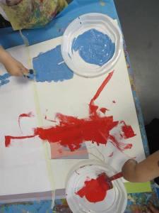 Peindre la culotte bleue
