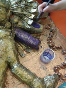 Encre acrylique violette
