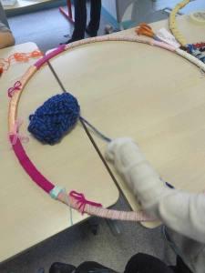Cerceau recouvert de laine