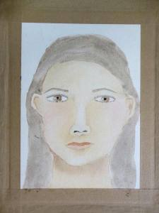 Autoportait à l'aquarelle