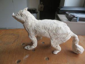 Statuette représentant un loup