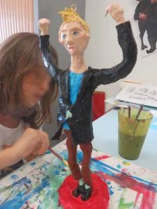 Peinture de la statuette