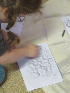 Textures au crayon à papier