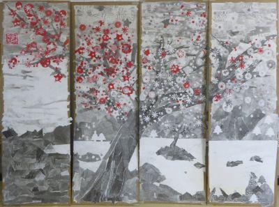 L'arbre a pris des couleurs