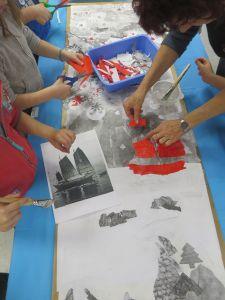 Fabriquer un bateau en papiers découpés