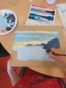 Puis peindre la mer