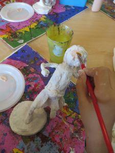 Mise en peinture de la figurine